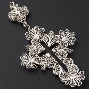 Pectoral Cross in silver 800 filigree s8