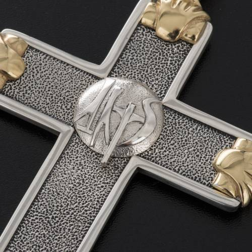 Pectoral cross in sterling silver, white and gold, Year of Faith s3