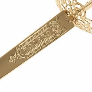 Épée laiton filigrane or pour statues s3