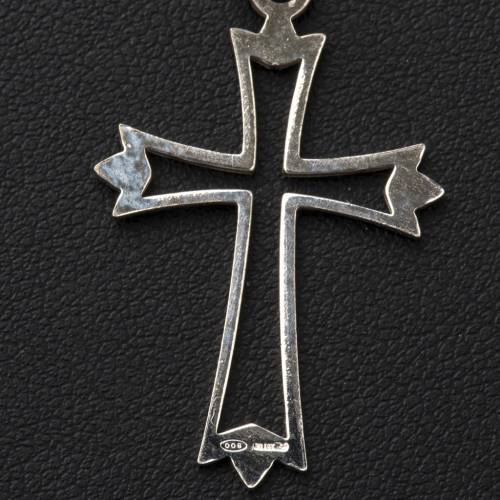 Pendant cross in 800 silver, outline s3