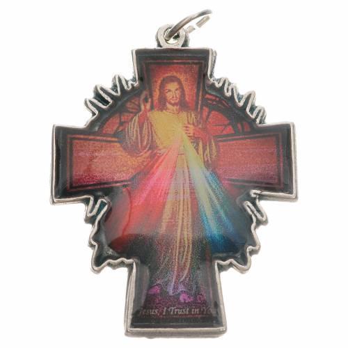 Pendente croce Gesù Divina Misericordia s1