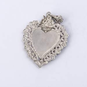Pendentif coeur votif en argent 800 s3