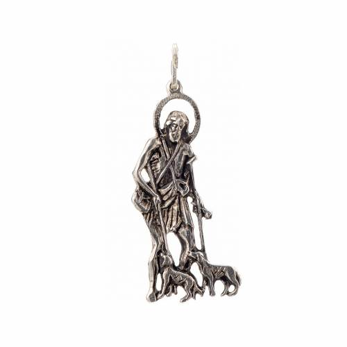 Pendentif Saint Lazare 4x1.7cm argent 925 s1