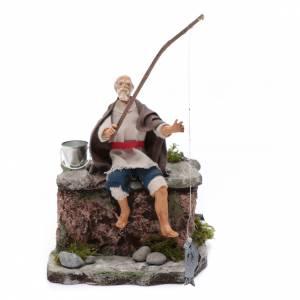 Presepe Napoletano: Pescatore movimento presepe 10 cm di Napoli