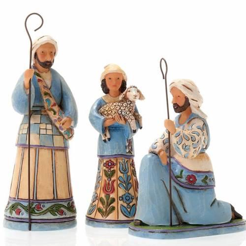 Pesebre resina 13,5 cmMini Blue Nativity s4