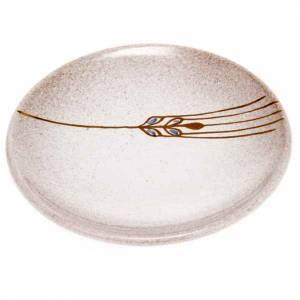 Calici Pissidi Patene ceramica: Piattino copri calice ceramica perla e oro