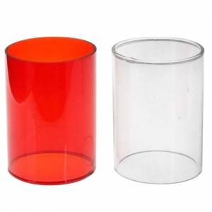 Lampes et lanternes: Pièce de rechange lampe, verre deux couleurs