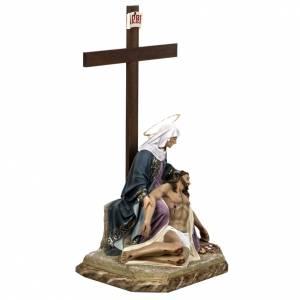 Pietà 50 cm en pâte à bois s7