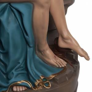 Pietà di Michelangelo 100 cm marmo sintetico colorato s4