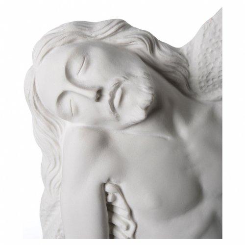 Pietà di Michelangelo targa marmo sintetico bianco 65-90 cm s3
