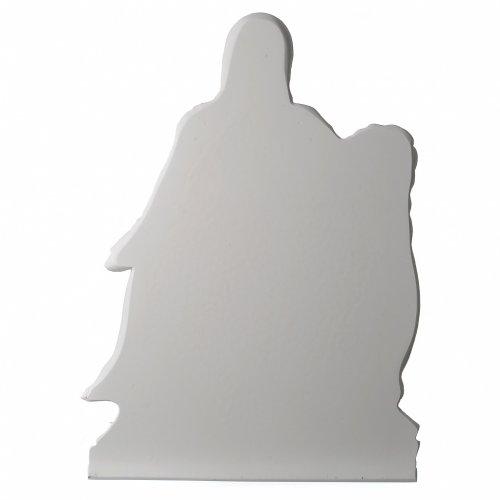 Pietà di Michelangelo targa marmo sintetico bianco 65-90 cm s4