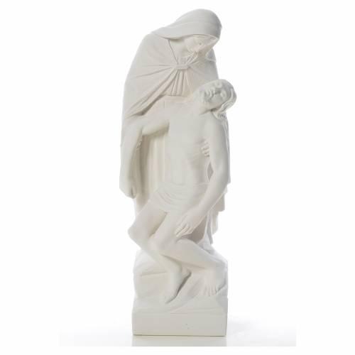 Pietà statua marmo bianco sintetico s1