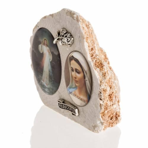 Pietra di Medjugorje immagine Maria e Gesù s3