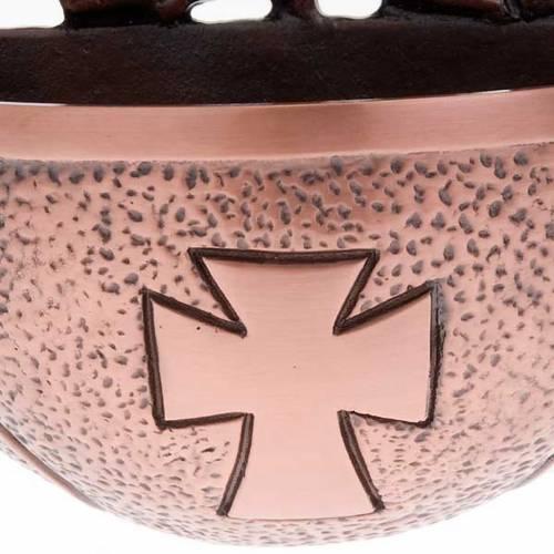 Pila de agua bendita bronce con paloma s3