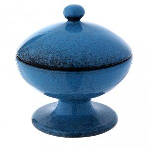 Calici Pissidi Patene ceramica: Pisside in ceramica blu con coperchio