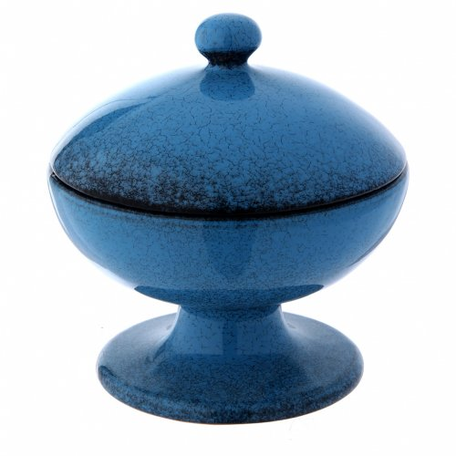 Pisside in ceramica blu con coperchio s2