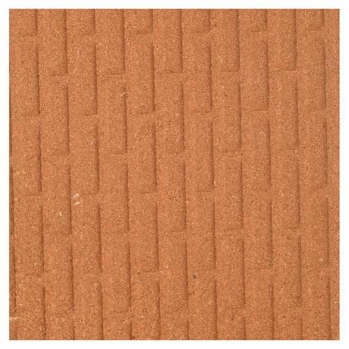 Plancha corcho muro ladrillos grandes 100x40x1 s1