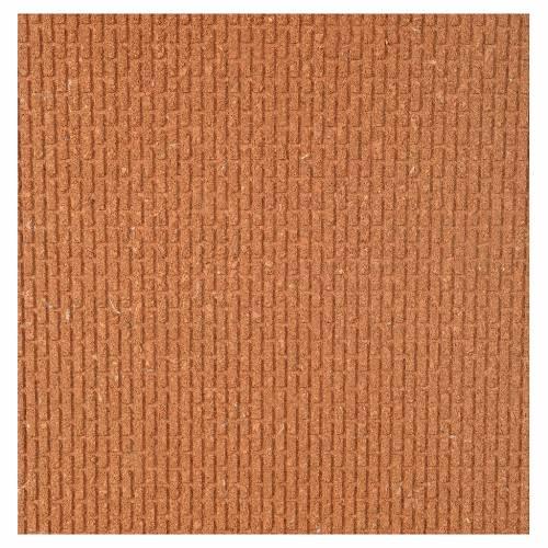 Plancha corcho muro ladrillos pequeños 100x40x1 s1