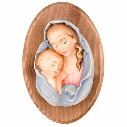 Plaque avec statue Vierge s1