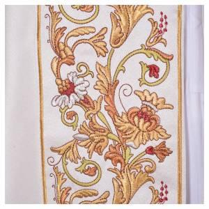 Dalmatik, Rauchmantel und Pluvial: Pluviale mit Blumen Dekorationen aus Polyester