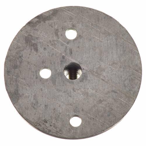 Polea en hierro para motorreductor 35mm, conexión 4mm s2