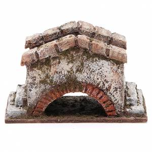 Pont crèche ancien 8x15x9 cm s1