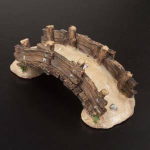 Ponts, ruisseaux, palissades pour crèche: Pont miniature crèche noël 14.5x7x5