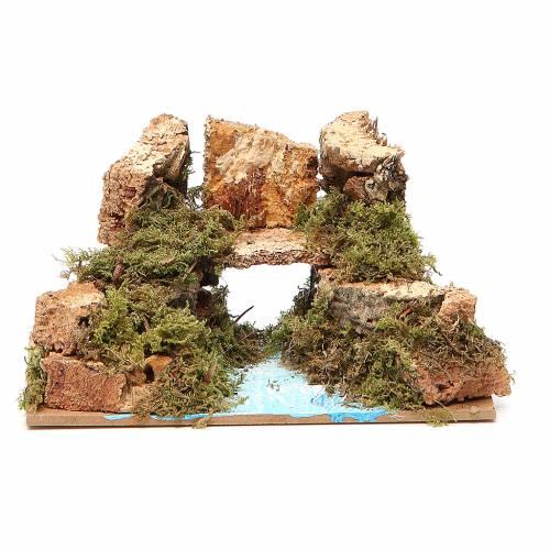 Pont sur fleuve 8x15x10 cm modèles assortis s3