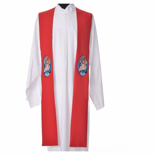 STOCK Pope Francis' Jubilee Big Stole with GERMAN machine embroided logo s5