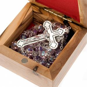 Portarosarios: Portarosario caja de olivo Sagrada Familia