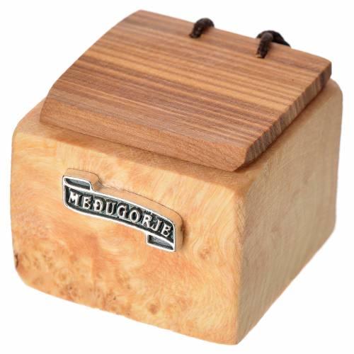 Portarosario Medjugorje madera olivo s1