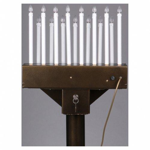 Porte-cierge électrique offrandes 15 bougies ampoules 12V boutons s8