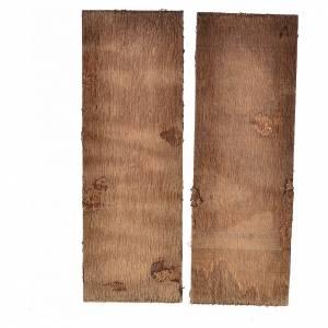 Porte en bois 2 volets crèche 12x9 cm s2