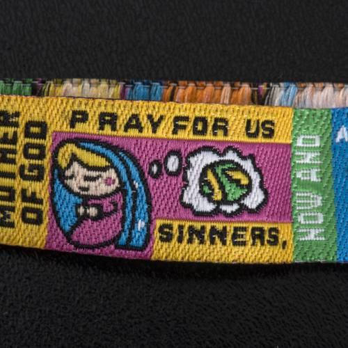 Prayer bracelet in fabric, Hail Mary ENG s3