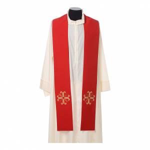 Priesterstolen: Priesterstola Kreuz mit Glasperle