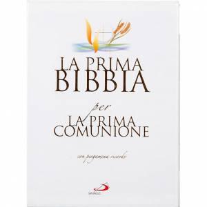 Libri per bambini e ragazzi: Prima Bibbia per la Prima Comunione con pergamena