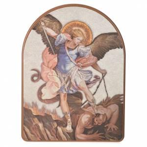 Print on wood, 15x20cm Saint Michael s1
