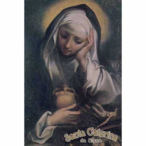 Print, Saint Catherine praying s1