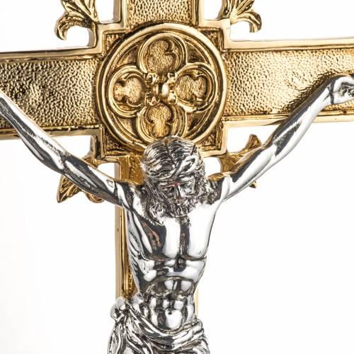 Processional cross in brass 54x35 cm  s3