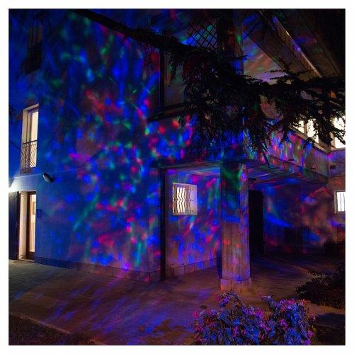 Proiettore 3Led onde d'acqua multicolor Interno esterno s4