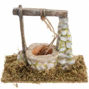 Maisons, milieux, ateliers, puits: Puits en miniature crèche Noel 8x15cm