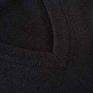 Pullover cachemir 100% nero collo V s3