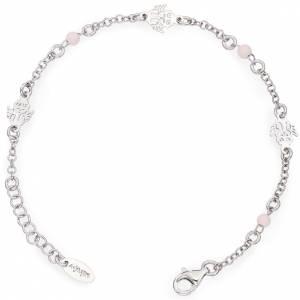 Pulseras AMEN: Pulsera AMEN Ángel perlas rosas Plata 925