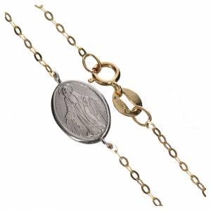 Pulseras de plata y oro: Pulsera de Oro 750/00 con Medalla Milagrosa - gr. 1,42.