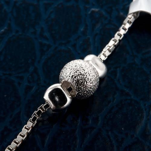 Pulsera decena plata perlas corredizo s4