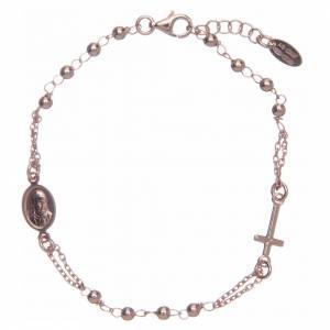 Pulseras AMEN: Pulsera rosario AMEN plata 925 acabado rosado