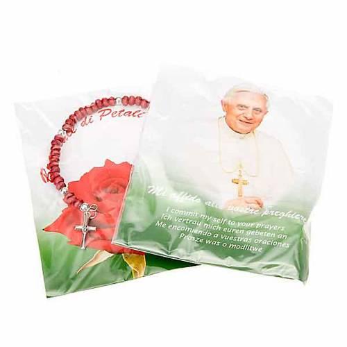 Pulsera rosario petalos de rosa s3