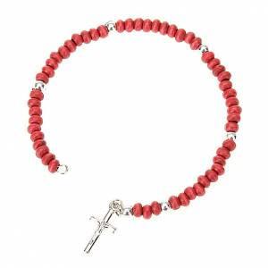 Pulsera rosario petalos de rosa s1