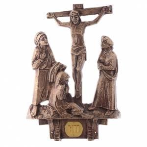 Stazioni Via Crucis 14 quadri bronzo s12