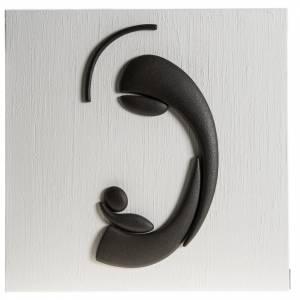 Bassorilievi vari: Quadro bassorilievo natività gres porcellanato 50x50 cm